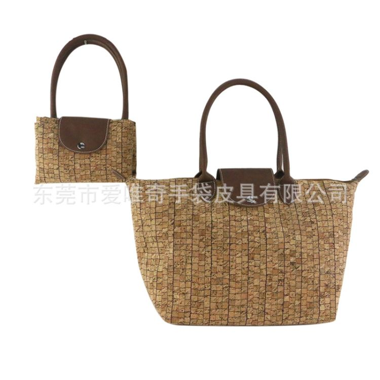 厂家直销新款环保木纹手提包 木纹纸折叠购物袋 真木手袋加工厂