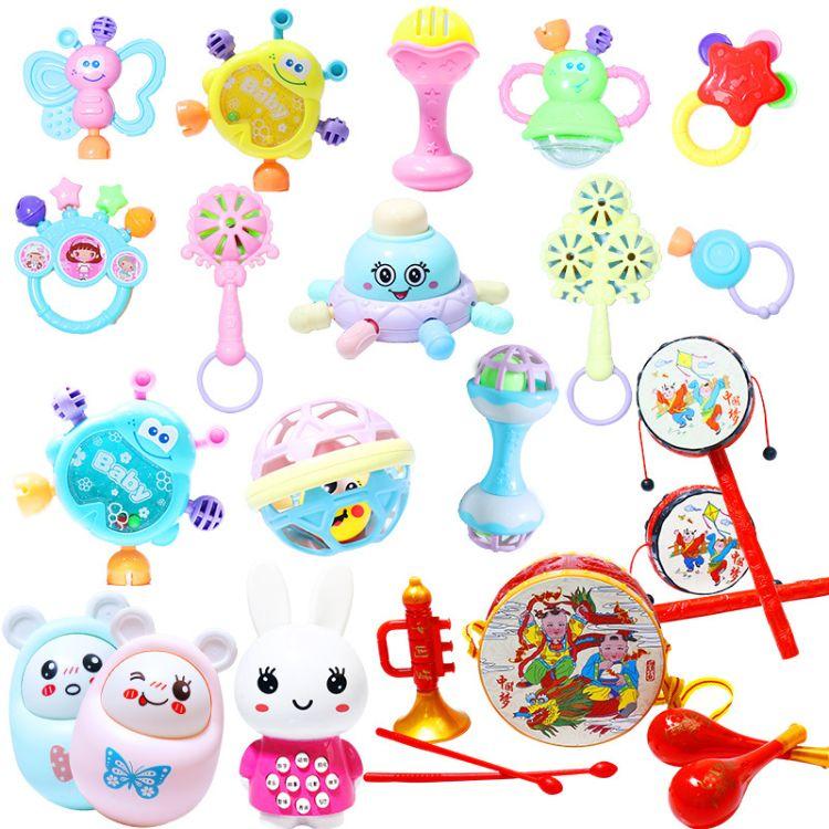 婴儿摇铃玩具批发价格 0-1岁牙胶球磨牙手抓球玩具批发零售