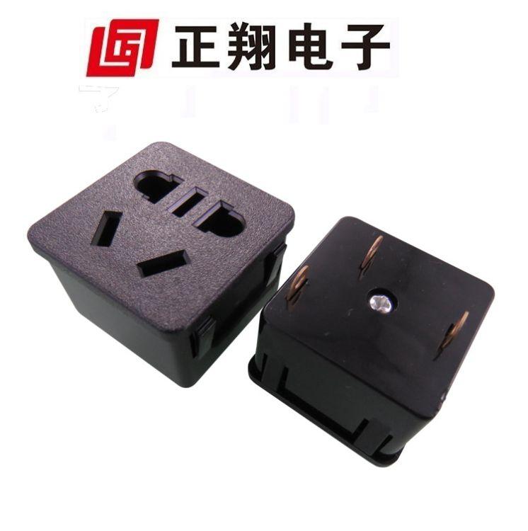 工业PDU模块插座 5孔嵌入模块机柜电源国标座 多国 新国标插座