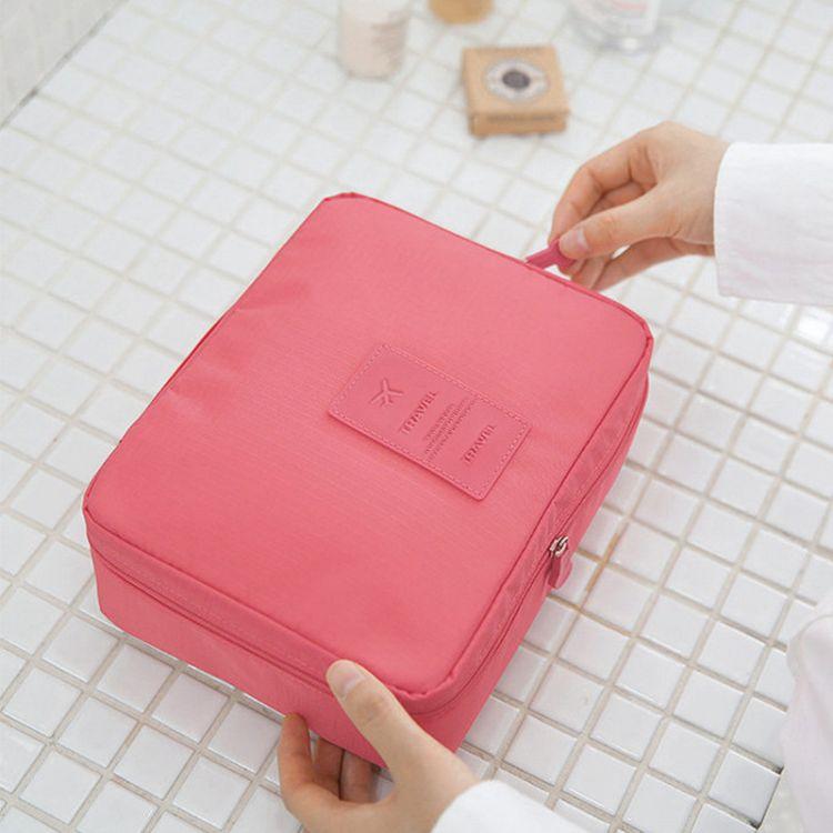 韩国便携旅行包 防水洗漱包出差女士飞机收纳包厂家定制化妆包