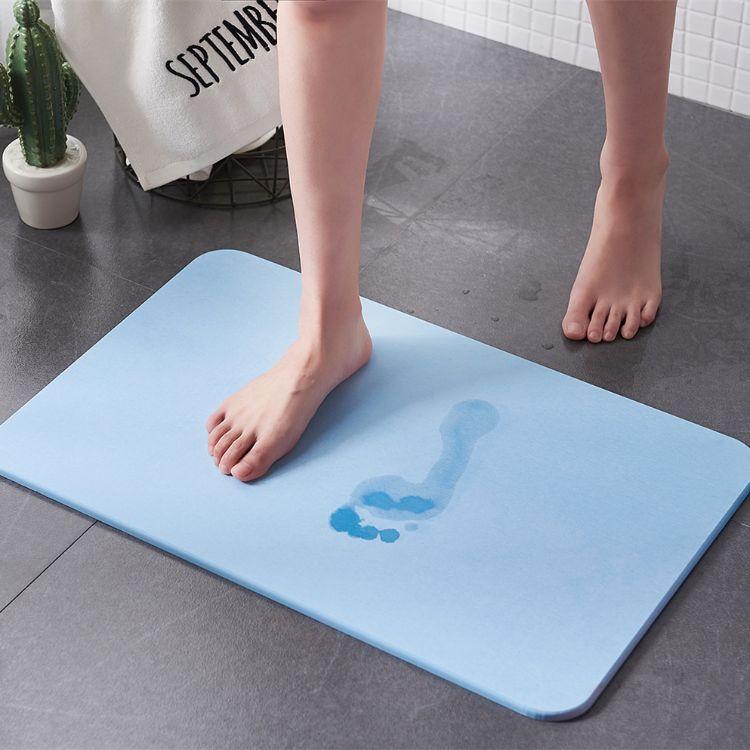 厂家环保天然硅藻泥脚垫浴室吸水门垫速干地垫防滑垫硅藻土脚垫