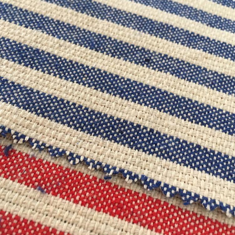 麻棉色织提花面料家纺家居布料 装修背景沙发坐垫箱包鞋材棉麻布