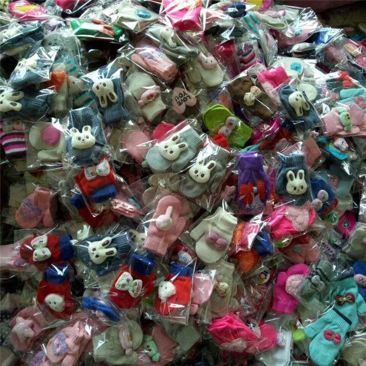 男女儿童卡通包仔手套 可爱宝宝保暖连指手套1-5岁孕婴淘宝赠品