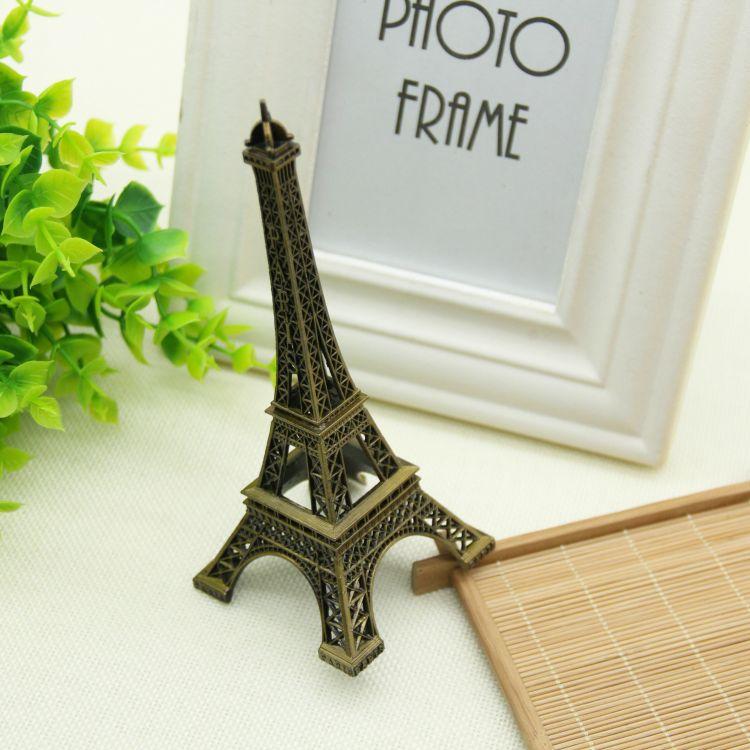 维艺 时尚复古 饰品银饰摄影辅助拍照道具 埃菲尔铁塔 拍摄道具