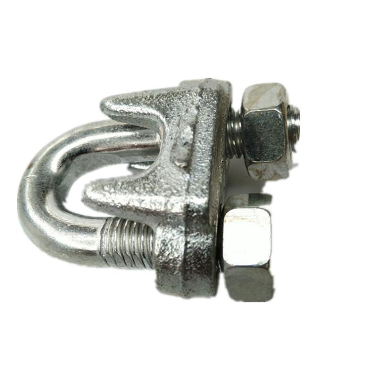 电动吊篮钢丝绳卡头卡扣U形夹头猫爪锁扣锁紧器玛钢卡子厂家直销