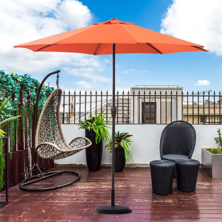 单顶铝合金手摇中柱伞户外遮阳伞太阳伞沙滩伞庭院伞定制