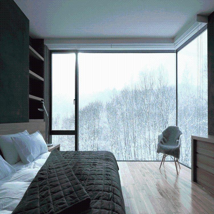 定做别墅阳台平开窗 断桥隔热隔音 定做窗纱一体平开窗