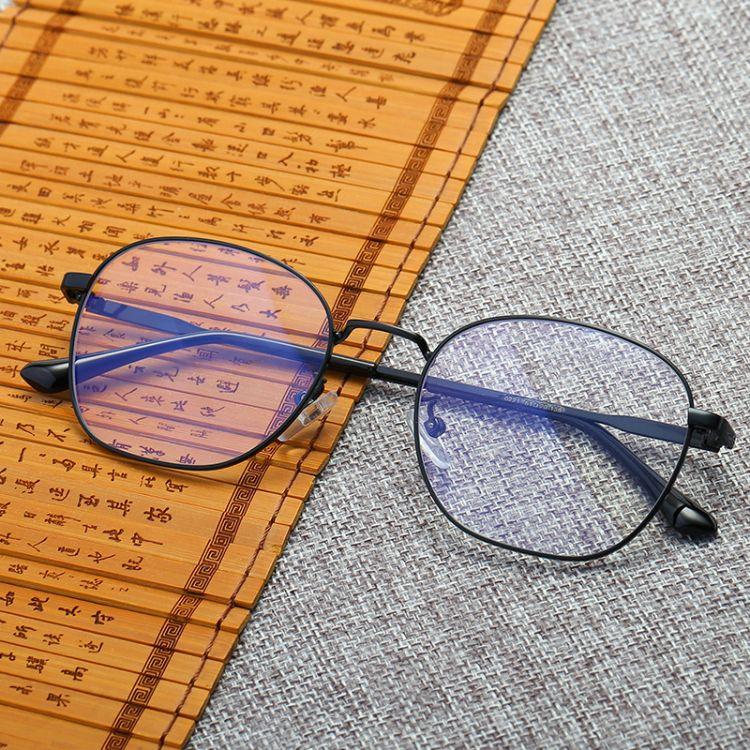 韩版圆框时尚电脑镜平光镜眼睛架网红款防蓝光眼镜近视框男女0221