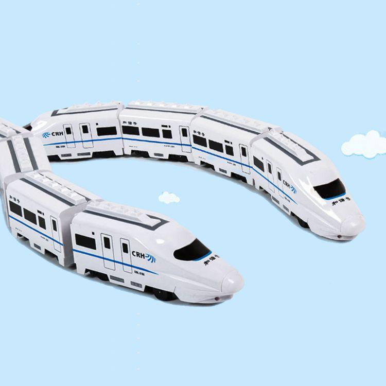 大号仿真轨道车万向轮 带声效 和谐号灯光音乐托马斯儿童电动火车