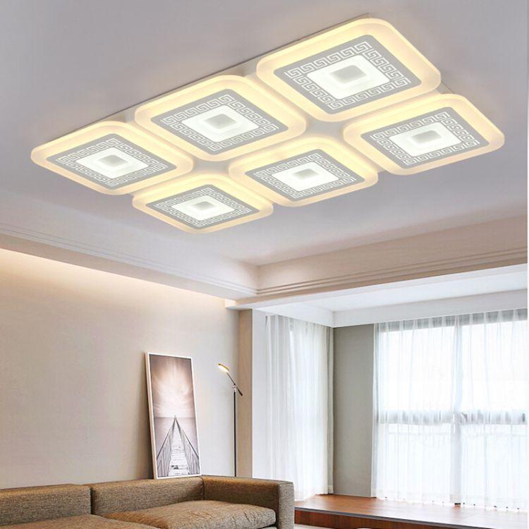 现代新中式超薄吸顶灯简约led客厅灯大气餐厅书房灯卧室灯CX1077