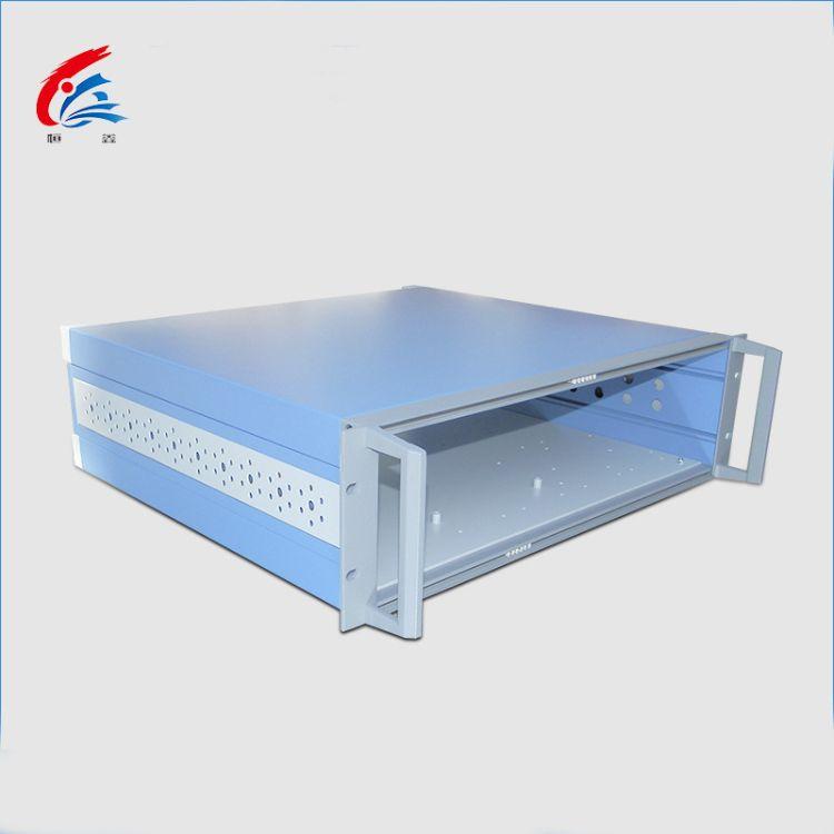 铝型材机箱外壳 B型仪器仪表铝合金机箱壳体 便携机架式定制插箱