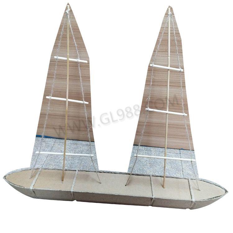 防水一次性纸浆玩具船,环保可降解儿童玩具船