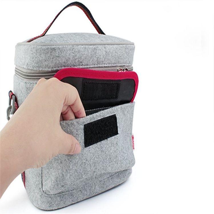 加工定制毛毡保温包环保简约便当包冰袋带饭午餐包便当袋保温袋子
