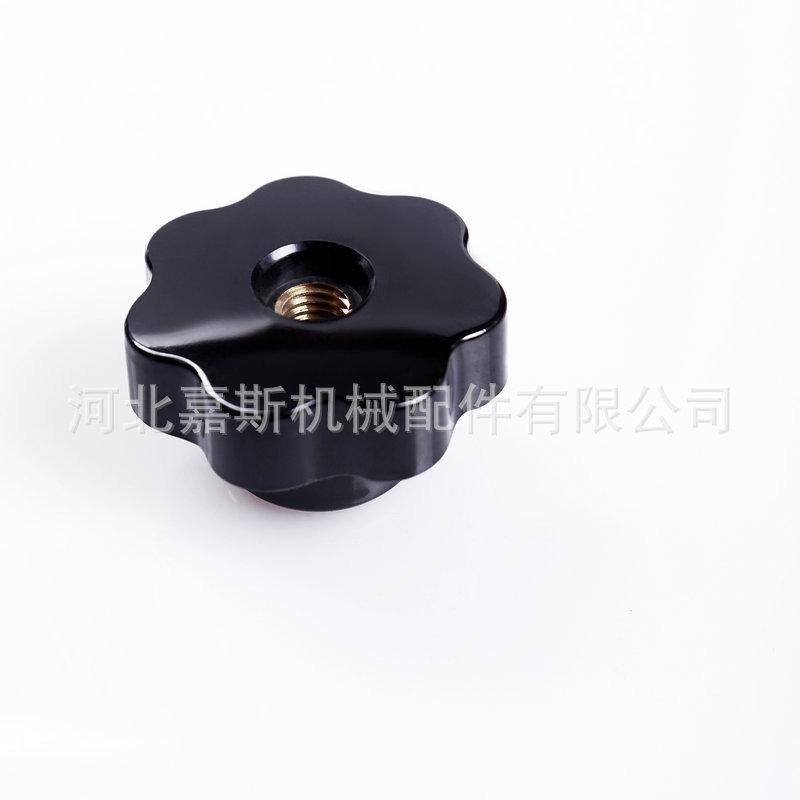 嘉斯厂家生产 黑色胶木通孔形把手 电木七角星形把手