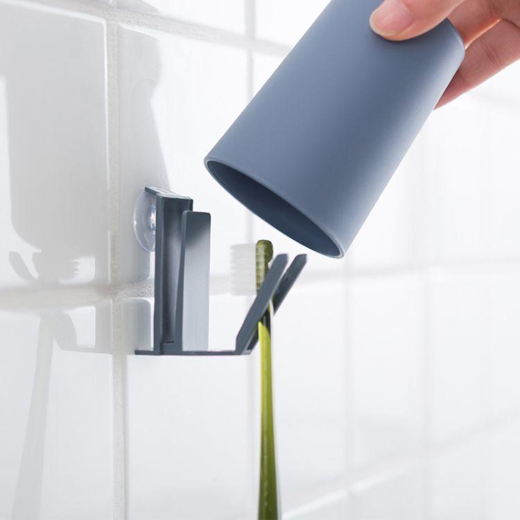 洗漱挂钩漱口杯牙刷架简易无痕挂钩一个带吸盘不带杯8.3g