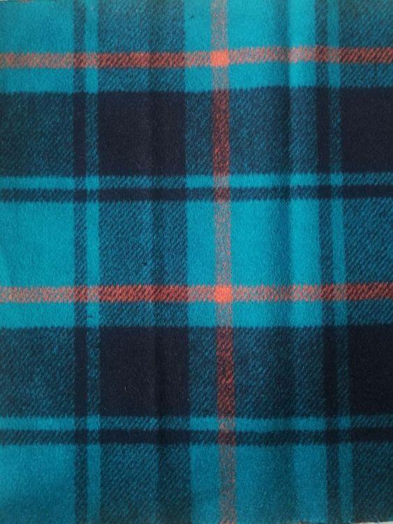 宝宏 彩色格子毛呢面料 粗纺毛纺双面呢绒面料