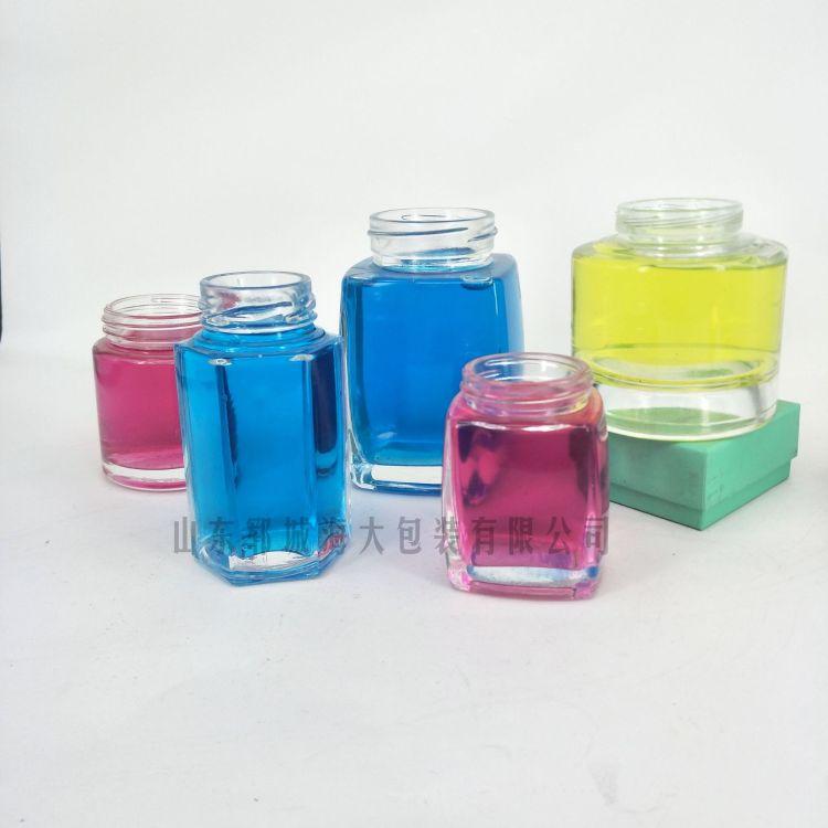 高档 晶白料 圆形蜜蜂瓶 100ml 蜂蜜瓶玻璃 500ml  蜂蜜玻璃瓶