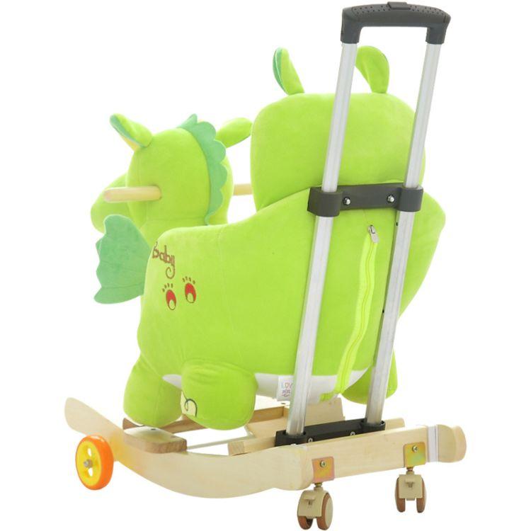 厂家直销儿童多功能摇摇木马室内外哄娃神器二合一宝宝摇椅带音乐
