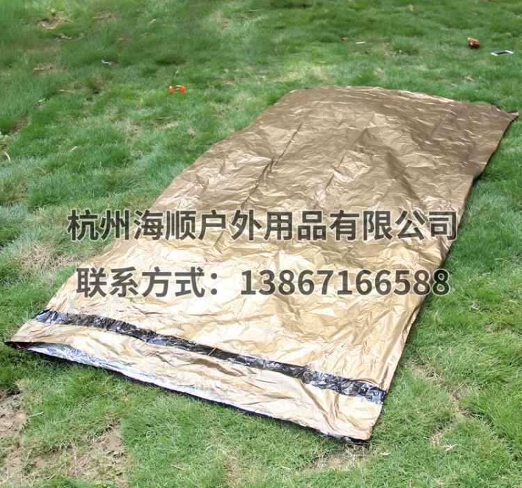 便携式户外应急保暖睡袋  成人野营隔脏防水保暖睡袋