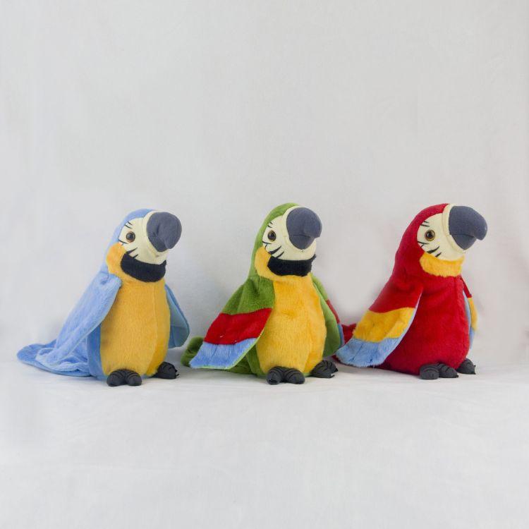 会学话的鹦鹉 毛绒玩具 电动玩具 鹦鹉学话 扭动 扇翅膀 宝贝喜欢