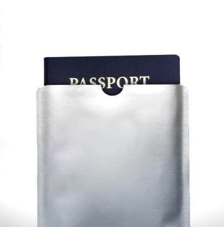 防掃描RFID護照套 鋁箔RFID護照卡套 屏蔽RFID卡套 防消磁
