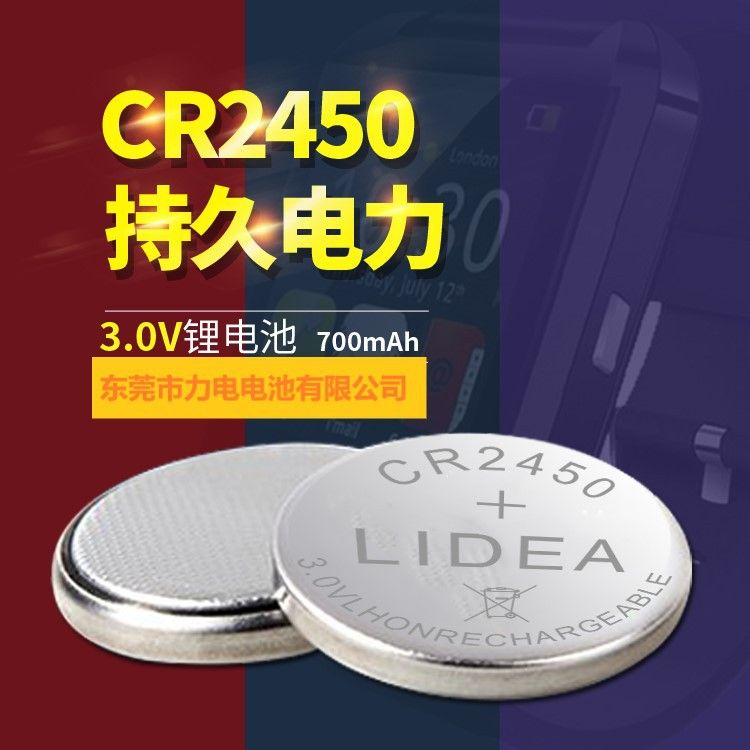 CR2450故障指示器用后备电源-2CR2450带线电池-CR2450电池
