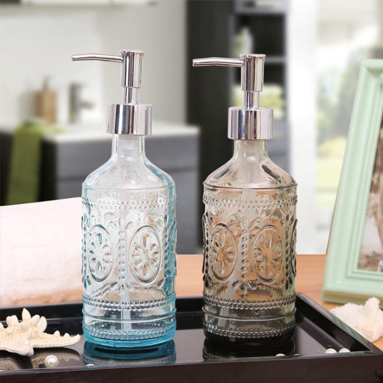玻璃乳液洗手液沐浴液瓶 欧式洗手液沐浴露瓶子分装空瓶