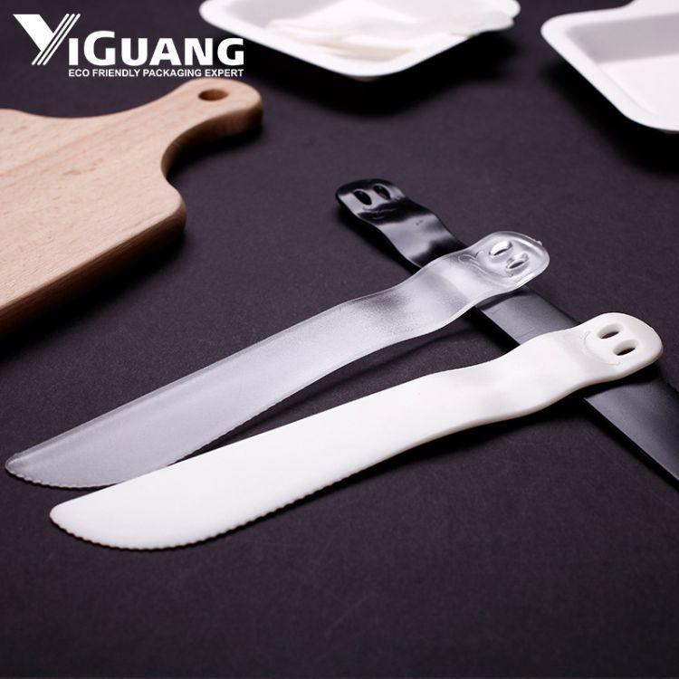 上海益光厂家直销21客同款蛋糕刀叉  高档塑料刀子  一次性刀蛋糕刀叉质量保证 经久耐用