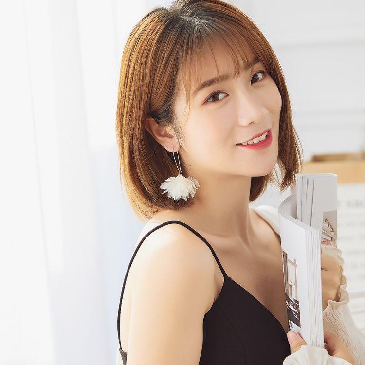 显脸瘦的圆圈花瓣时尚耳环女2019新款潮流个性气质甜美耳坠女 468