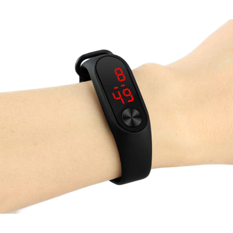 ulzzang原宿潮流时尚糖果色果冻硅胶手表LED触控手环运动手表