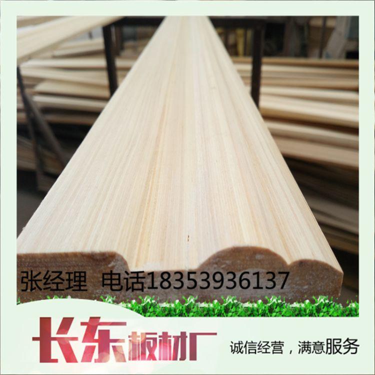专业生产科技木包覆基材木线板材踢脚密度好不开裂做造型免打磨