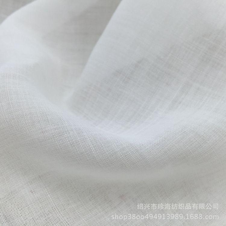 苎麻本白不上软布料 数码印花底布麻布平纹 超薄苎麻春夏成衣染色