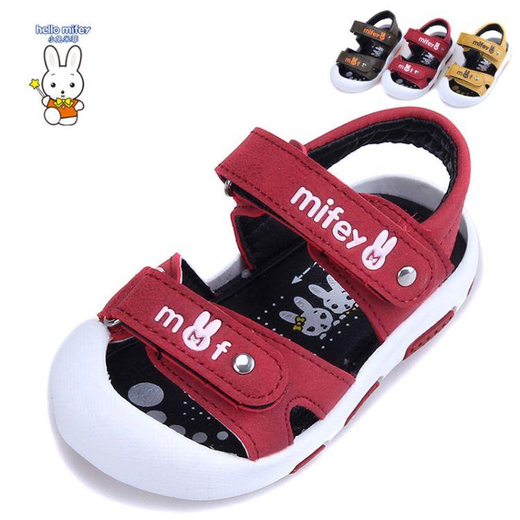2018小兔米菲6119夏季新款凉鞋儿童包头沙滩凉鞋宝宝休闲学步凉鞋