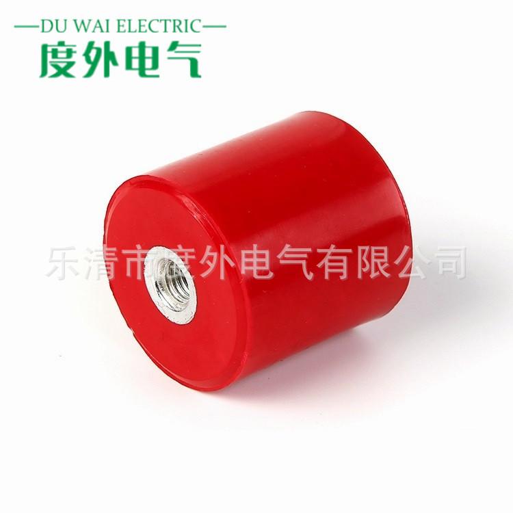 DOWE 度外電氣 廠家直銷MNS30*50紅色圓柱形絕緣子M8*50低壓配電柜絕緣子 直筒形