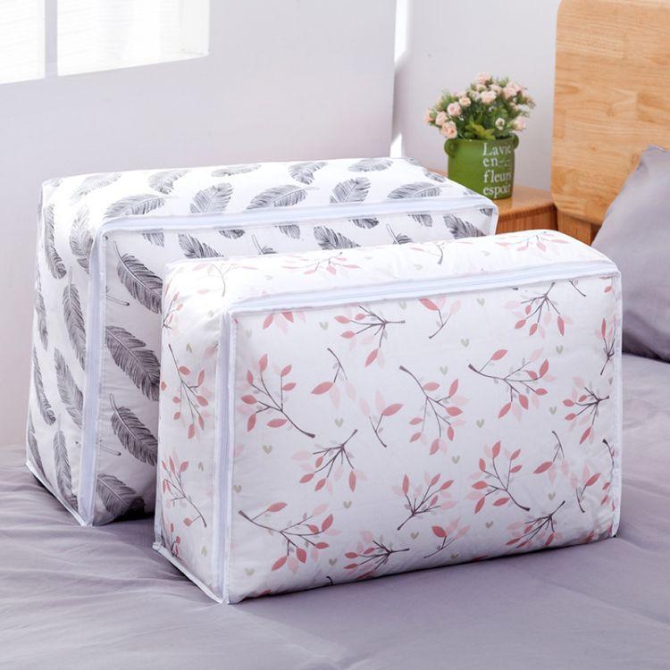 厂家直销PEVA印花棉被收纳袋 防潮防尘储物袋大号衣物整理箱批发
