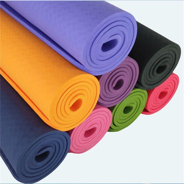 tpe瑜伽垫微瑕疵处理加厚加宽瑜珈垫初学者单色双色多规格现货