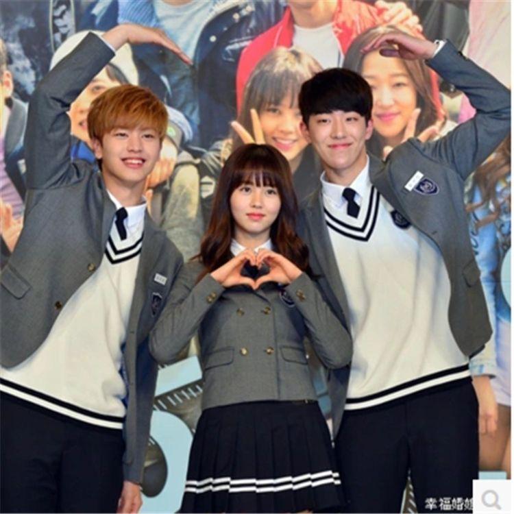 韩版男女高初中校服大学生班服 英伦学院风学生西服套装情侣服装