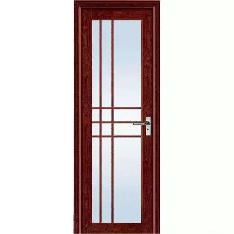 定制圆弧铝平开门 钢化玻璃铝合金卫生间门 整套铝合金洗手间门