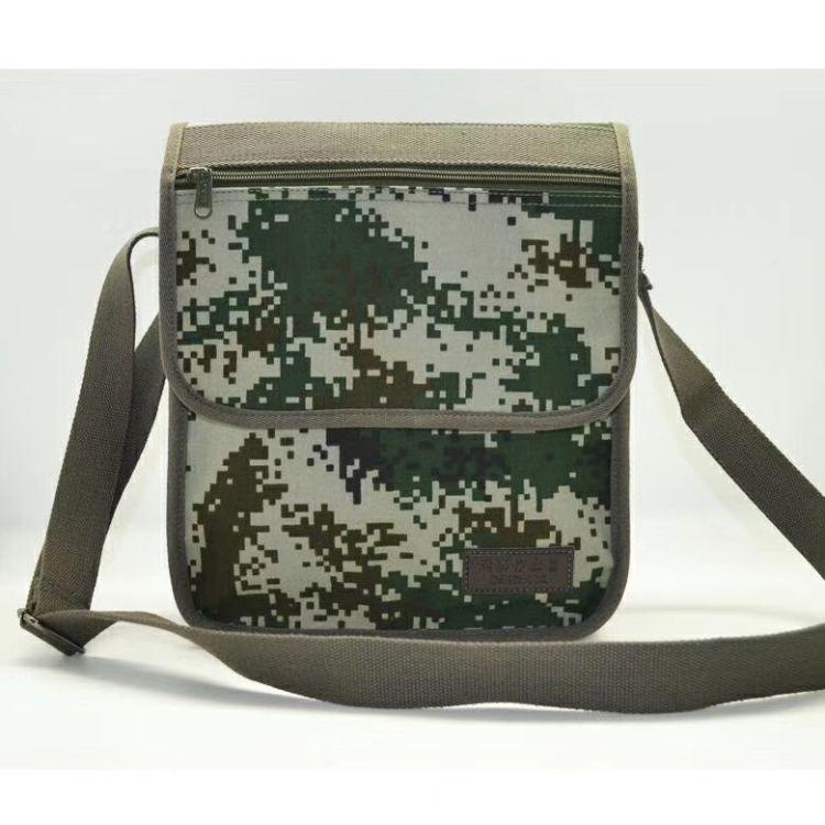 迷彩作业包单肩斜款包军用包包帆布包