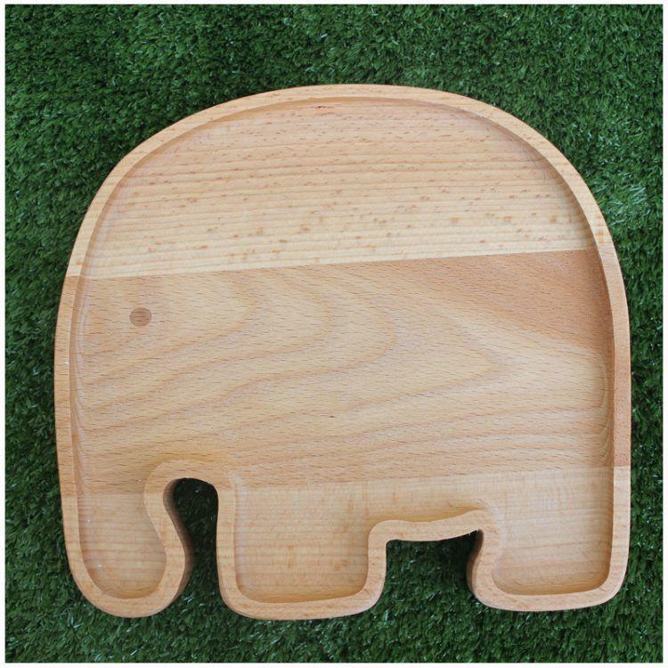 鼎林沃禾木 新奇特木制創意兒童餐盤 動物造型可愛餐盤餐具餐碗碟