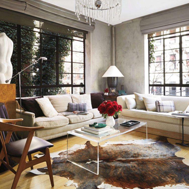 巴西进口天然整张奶牛皮张皮地毯真皮毛皮家具沙发材料书房样板间