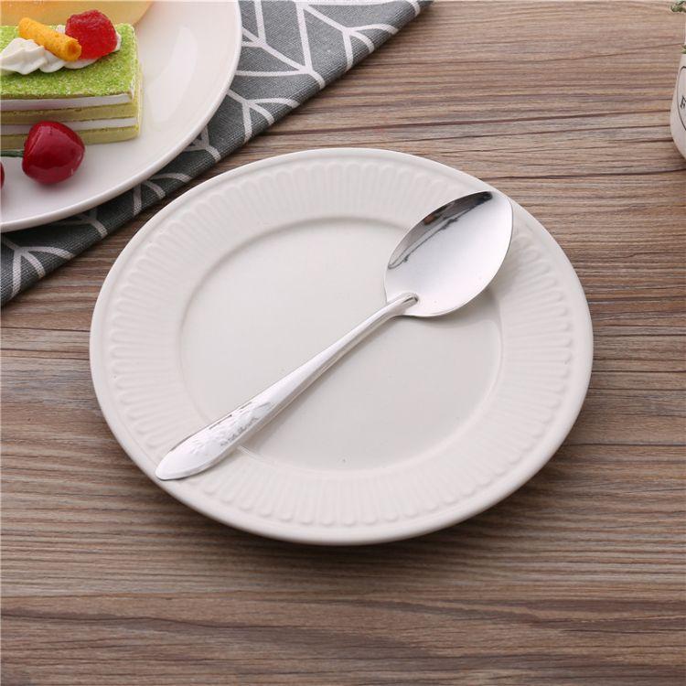 不锈钢201勺子 创意印花小勺礼品无磁调味勺厂家直销批发LOGO定制
