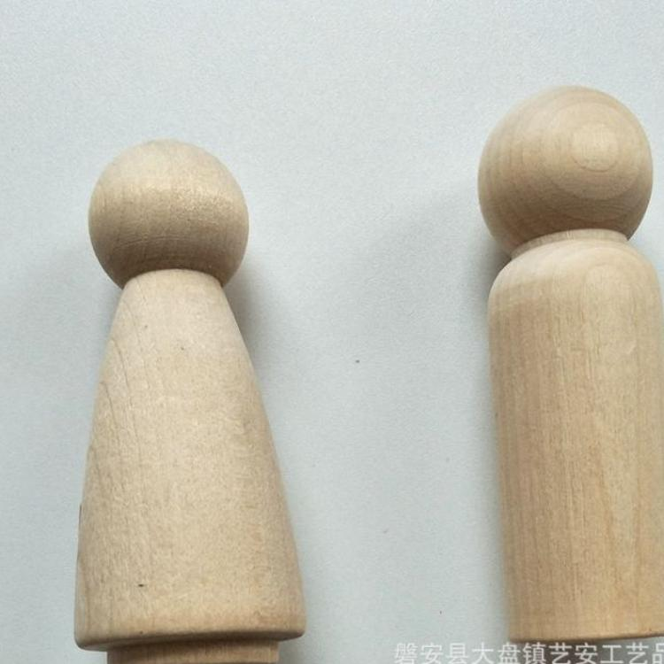 小木人木制玩具加工厂家木制工艺礼品木头人 儿童diy彩绘涂鸦玩具