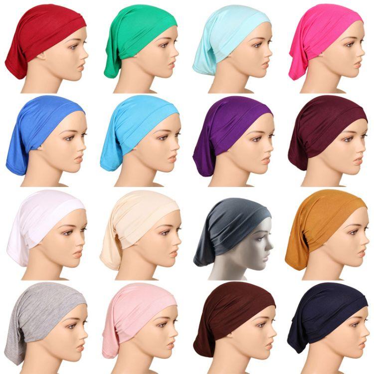 爆款20色穆斯林回族筒帽批发 外贸工厂直供单色高弹性丝光棉小帽