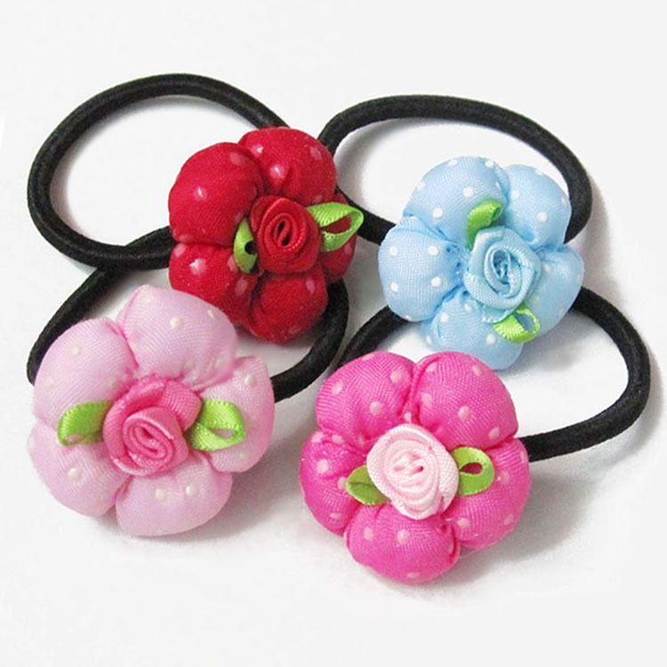 物价商品 经典五瓣小花儿童发圈 花朵发绳 小店赠品 2元店饰品