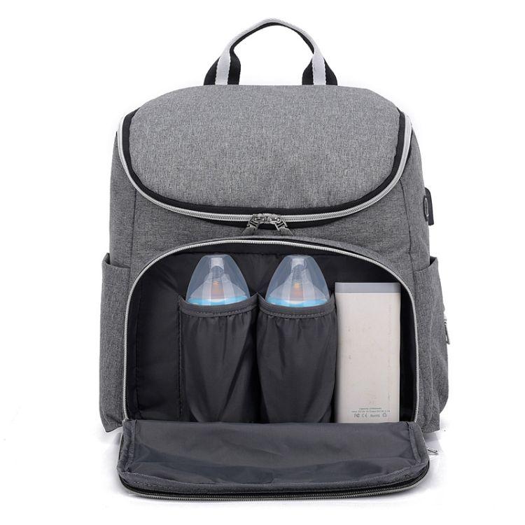 2019年新款时尚妈咪包大容量多功能婴儿收纳储物包可充电母婴包