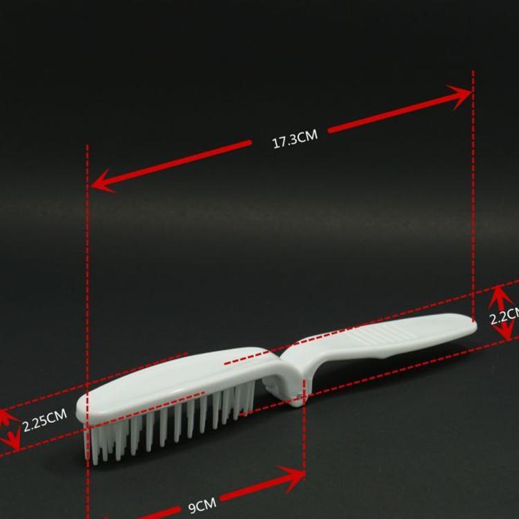 日本OEM酒店一次性折叠梳子 塑料宽柄折叠梳子 LOGO印刷发梳定制