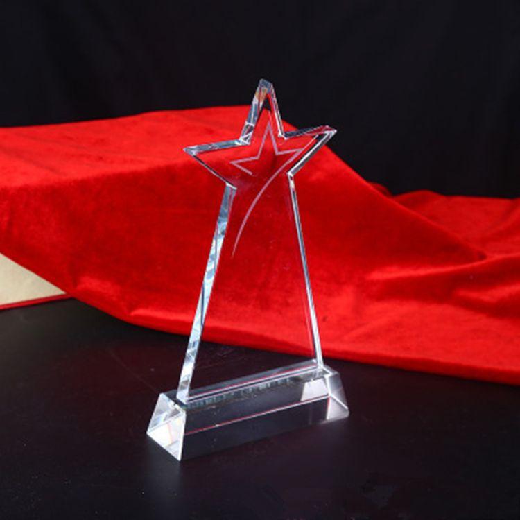奖杯金属水晶定制五角星刻字奖牌定做篮球大拇指纹绣包邮八一热销