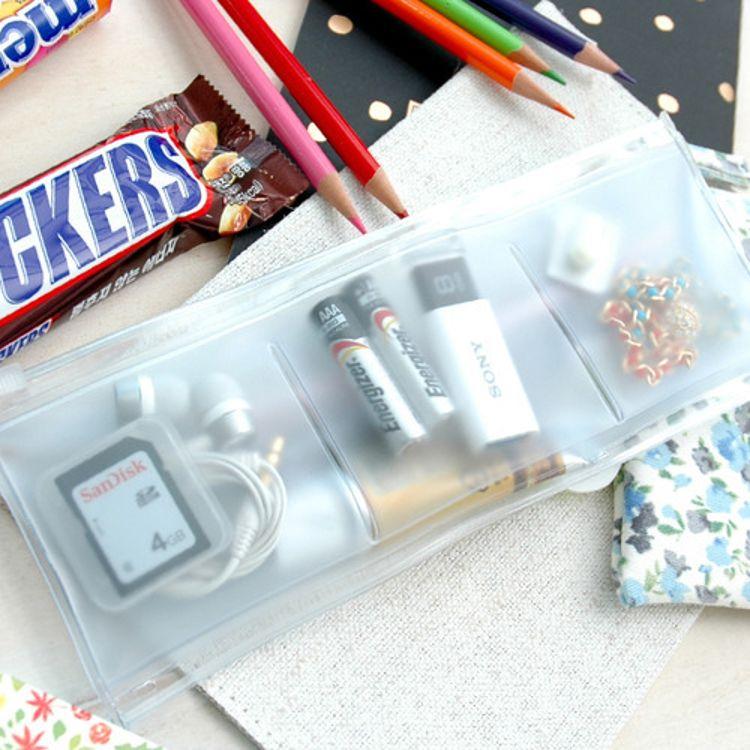 PVC透明软塑料细物防水袋收纳袋旅行杂物拉链封口袋耳机袋