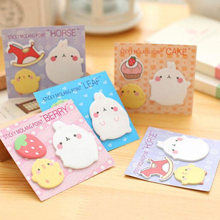 BQ07韩国小兔子组合便利贴 创意N次贴 记事贴 可爱便签本贴纸